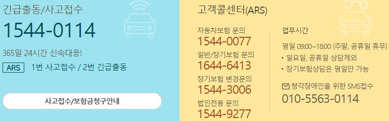 kb다이렉트 자동차보험 고객센터 전화번호